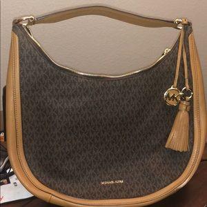 Michael Kors Lydia brown purse